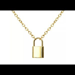 Unisex Choker Lock Pendant Necklace Padlock Charms